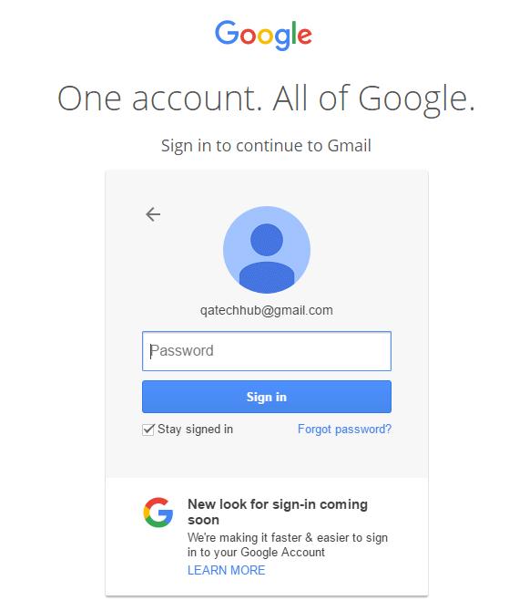 selenium assignment gmail login